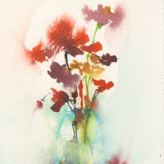 Watercolour painting. OQA022 Chic. Artist: Olivia Quintin