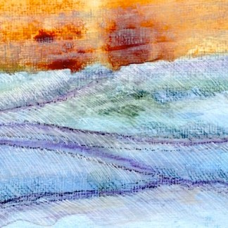 Watercolour painting. CMW002 Winter Sun. Artist: Clare Maria Wood