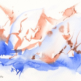 Watercolour painting. RWB0180 Restless. Artist: Vandy Massey
