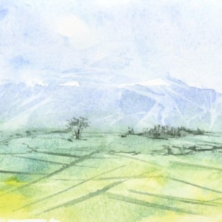 Watercolour painting. RWB0165 England's Fields. Artist: Vandy Massey