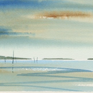 Watercolour painting. MLA008 Seascape 2 Artist: Maggie Latham