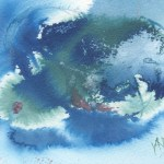 Watercolour painting. RWB0215 Storm over the Reef. Artist: Vandy Massey