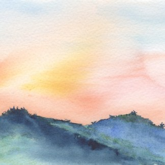 Watercolour painting. RWB0198 - Lakka Sky 4.
