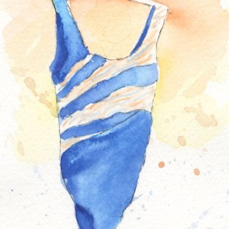 Watercolour painting. POB024 Hello Summer. Artist: Polly Birchall