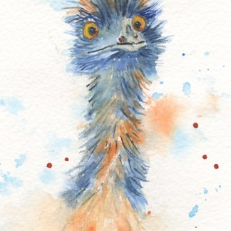 Watercolour painting. POB028 I AM Calm! Artist: Polly Birchall