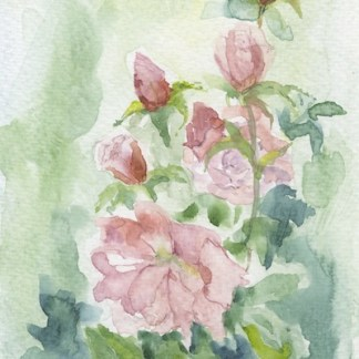 Watercolour painting. RWB0229 Garden Party. Artist: Vandy Massey