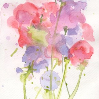 Watercolour painting. RWB0233 Summer. Artist: Vandy Massey
