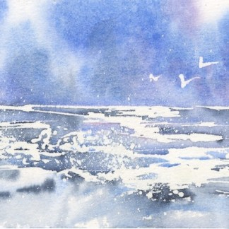Watercolour painting. IKA002 Sea Love. Artist: Isabella Kramer