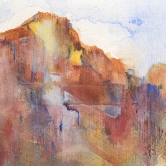 Watercolour painting. RWB0288 Red earth. Artist: Vandy Massey
