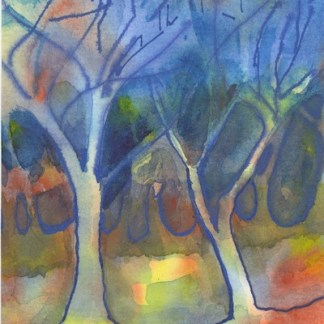 Watercolour painting. BHA002 Looking for the Light. Artist: Beverly Hughes