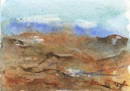 Watercolour painting. RWB0309 Imagined Landscape. Artist: Vandy Massey