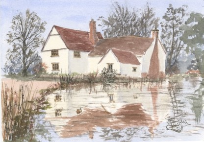 Watercolour painting. LPA001 Happy Memories (Willy Lott's Cottage, Flatford). Artist: Linda Purdy