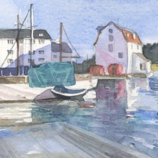 Watercolour painting. HO005 Woodbridge. Artist: Helen Otter