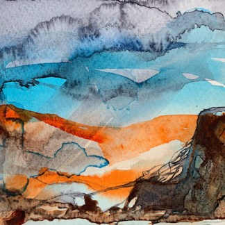 Watercolour painting. RWB0356 Cloudburst. Artist: Vandy Massey