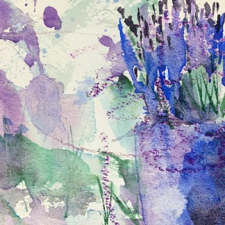 Watercolour painting. RWB0367 Lavender Shadow Artist: Vandy Massey