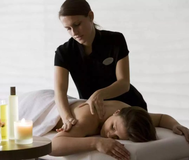 Massage Therapist Giving Massage The Spa At The Runnymede On Thames
