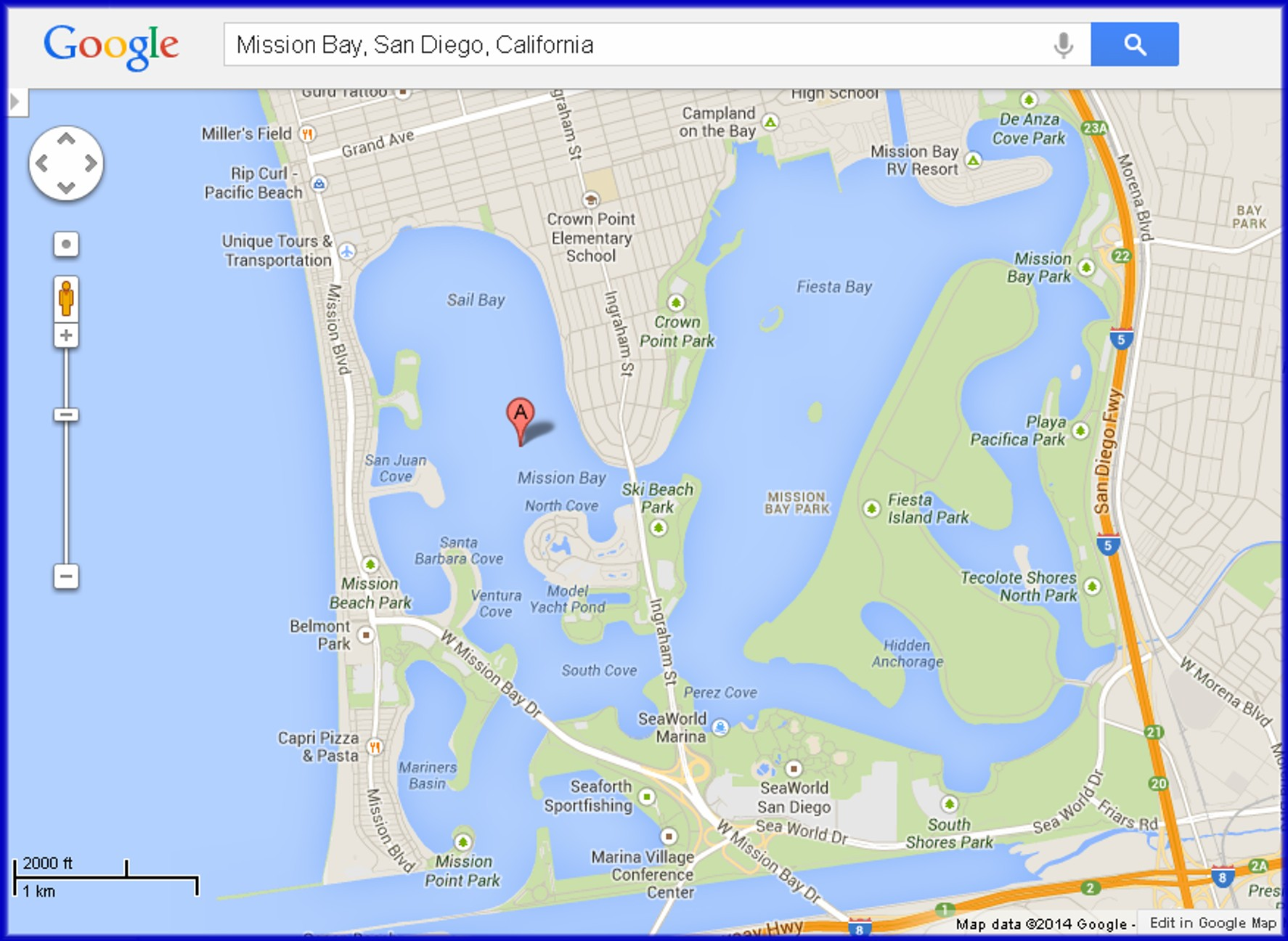 Map Of Mission Bay Sango Pictures To Pin