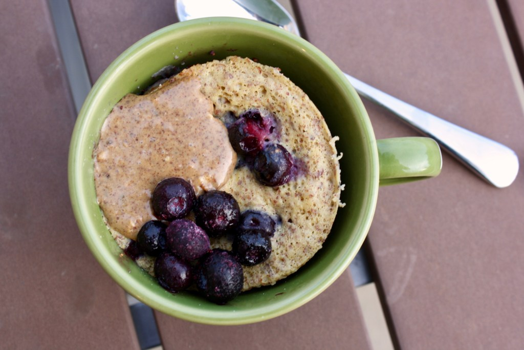 Almond Butter & Jelly Protein Mug Cake