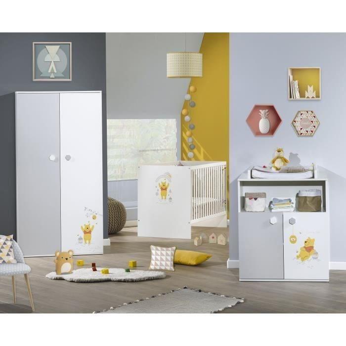 e zuolan 1pcs pvc winnie lourson sticker mural amovible reutilisable pour enfants garcons filles decoration maison chambre