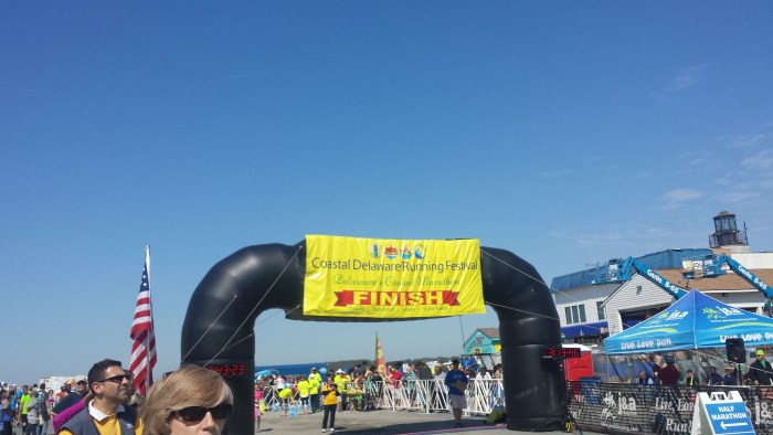 Coastal Delaware Running Fest Finish Line