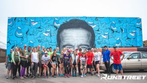 Runstreet Chicago Marathon Shakeout Art Run