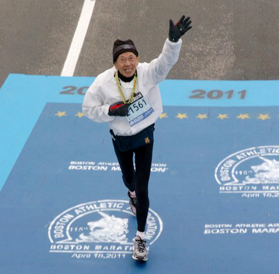 2nd oldest male finisher of the Boston Marathon 2011 with the time of 5:13:03 on 18 April at age 79
