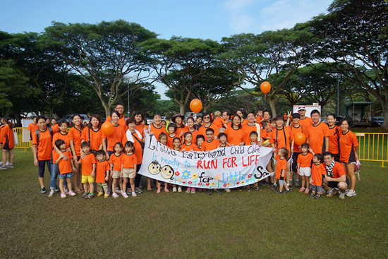 Many Gathered for the Disadvantaged Children at the Run For Life 2013