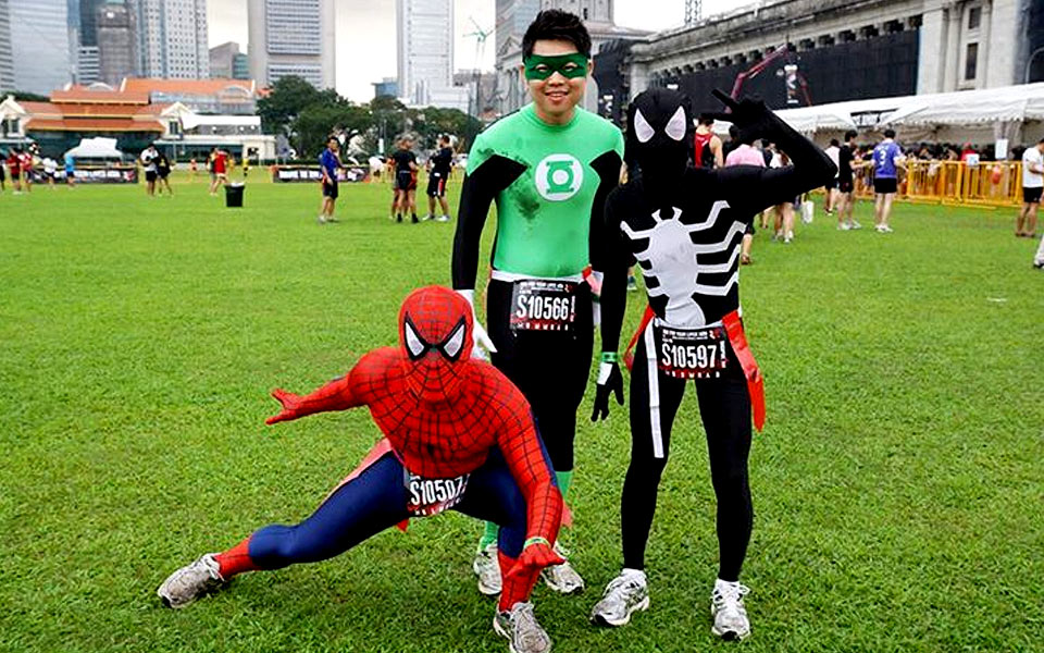 Running On All Cylinders: Costumed Superhero Runners
