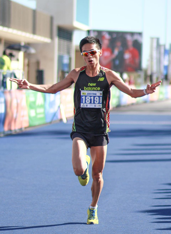 Fang Jian Yong, first Singaporean male, making his victorious return.