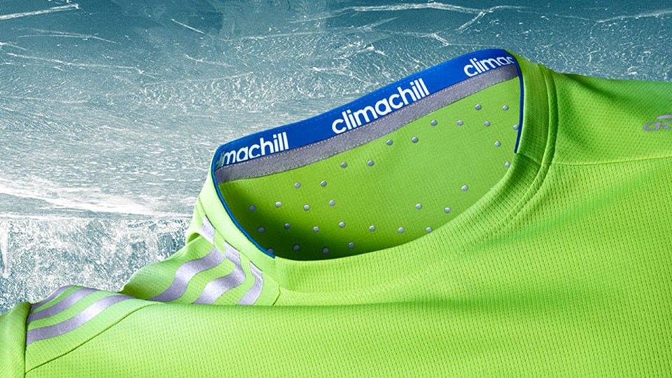 It's Cool—Really Cool—to Wear Adidas Climachill Athletic Shirts When Temperatures Skyrocket!