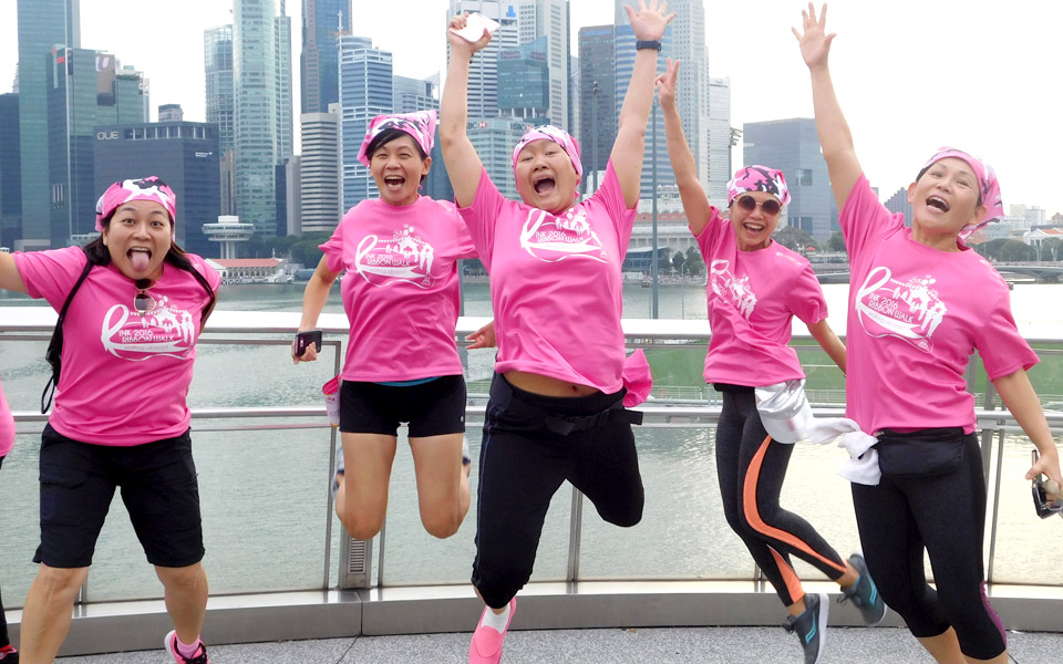 Colour Yourself Supportive at the Pink Ribbon Walk, Singapore Style!