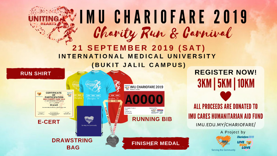 Live. Run. Love. IMU Chariofare 2019