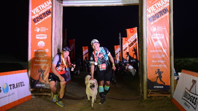 Two year old dog conquers 42km Vietnam Trail Marathon