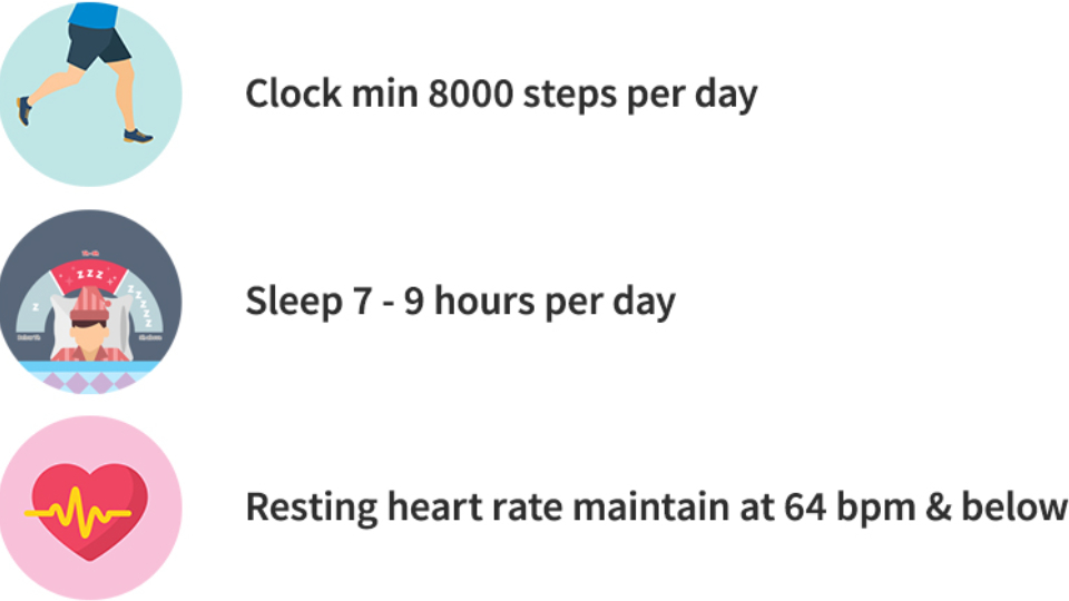 Step up, sleep right and take charge of your heart health