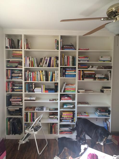 DIY Ikea Billy Bookcase Built In Bookshelves Part 2 Run