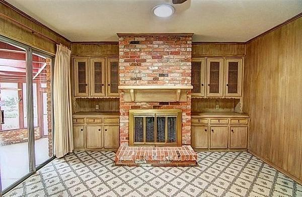 living room fireplace