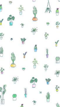 summer iPhone Wallpaper - Cute cactus wallpaper painted in watercolor