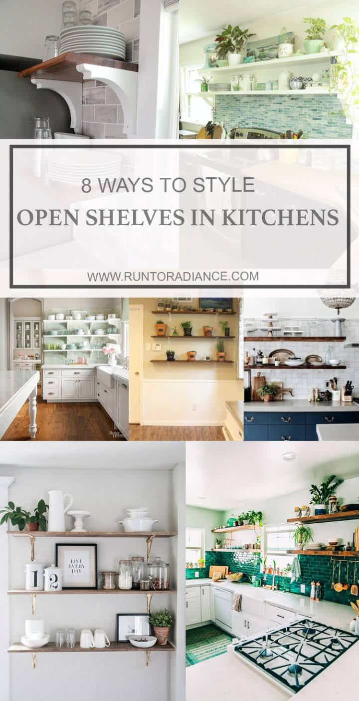 I love the look of open shelves in kitchens! I've been wanting to try open shelving in the kitchen for awhile - this post gives me motivation to do it! #5 is my favorite.!