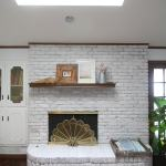 Update A Brick Fireplace How To Whitewash Brick The Easy Way