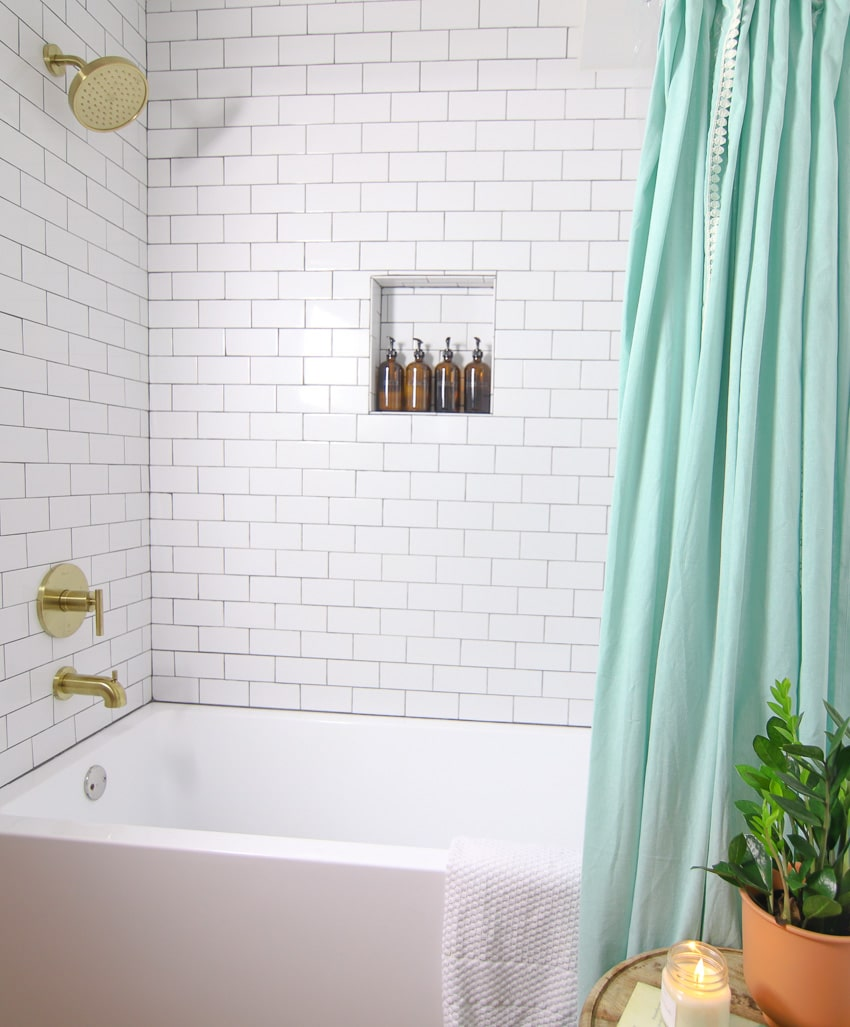 shower remodel before and after run