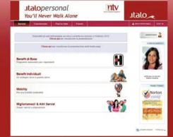 L'home page con tutti i servizi dedicati ai dipendenti