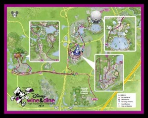 2013 runDisney Wine & Dine Race Course Map