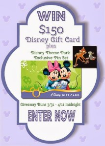 Disney Blogger Spring Giveaway – an Eggstra Special Disney Gift Card!