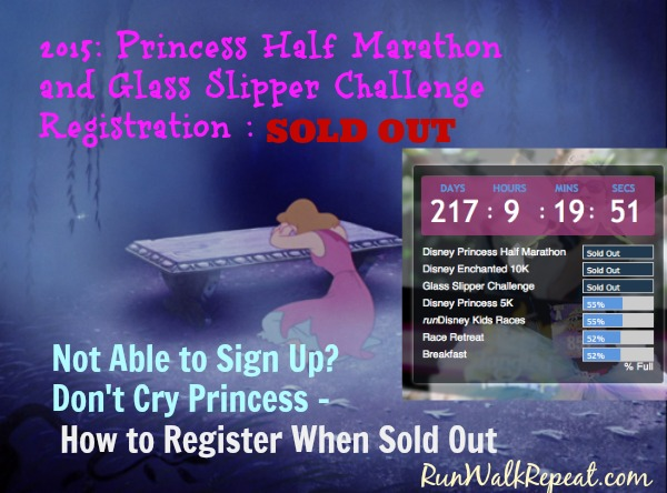 Signing Up For Sold Out runDisney Race