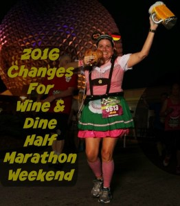 Wine and Dine Half Marathon Changes for 2016