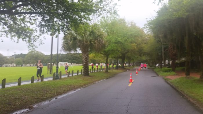 One of the out and backs which hey, give a shout out to the runners on the other side!