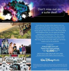 Fall Suite Deal at Walt Disney World Resort