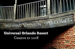 Coming to Universal Orlando 2018