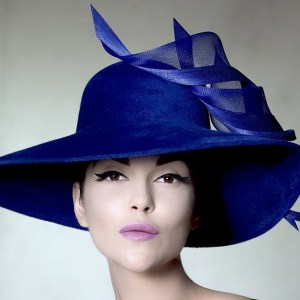 Sandro Hyams PHILIP TREACY BLUE HAT