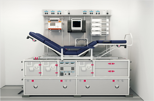 The Patient Transport Unit enables significant customisation. Image: